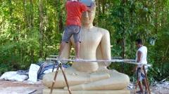 Mold buddha Stock Footage