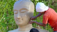 Mold face Buddha Stock Footage