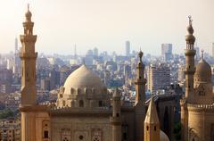 Mosque-Madrassa of Sultan Hassan. Cairo. Egypt - stock photo