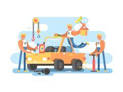 Full auto repair Stock Illustration