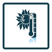 Summer heat icon Stock Illustration