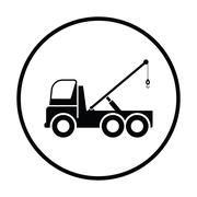 Car towing truck icon Stock Illustration