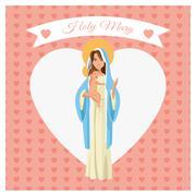 Holy mary cartoon design Stock Illustration