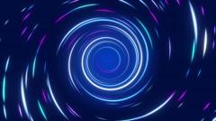 Dark blue abstract background, vortex light, loop Stock Footage