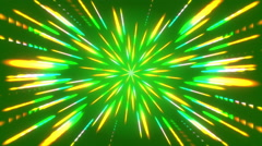Green abstract background, moving particles light, loop Stock Footage