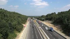 Motorway Roadworks Stock Footage