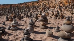 Buddhist Rock Garden In beach Stock Footage