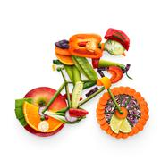 Fruity biker. Stock Photos