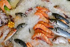 Sea food market Stock Photos