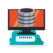 Cloud computing design. Media icon. Isolated illustration Stock Illustration