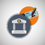 Money design. Financial item icon. Isolated illustration Stock Illustration