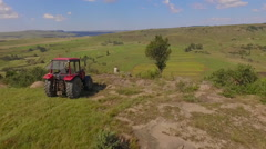 South Africa aerial view of agricultural Stock Footage