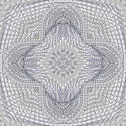 Kaleidoscopic pattern platinum Stock Illustration