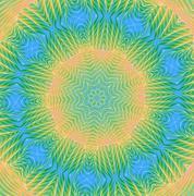 Kaleidoscopic pale rainbow pattern Stock Illustration