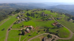 South Africa in the village aerial view Stock Footage