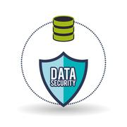 Data Security design. Protect icon. Data center illustration Stock Illustration