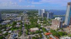 Condominium construction Miami aerial video Stock Footage