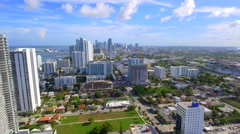 Aerial video of Edgewater Miami 4k Stock Footage
