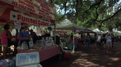 Cake stall at Farmers Market in Downtown Orlando Stock Footage