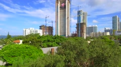 Edgewater Miami construction sites Stock Footage