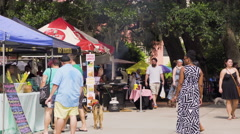 Outdoor market in Downtown Orlando, Florida Stock Footage