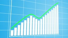 3d animated profit chart with green success line. 4K  Stock Footage
