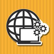 Cyber Security antivirus design , vector illustration Stock Illustration