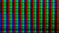 Extreme Close-up of Pixels of LCD IPS Monitor Matrix Stock Footage