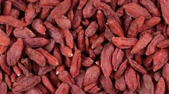 Dried Goji Berries. Loop rotation. Close up Stock Footage