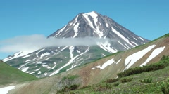 Typical dormant volcano: Viluy volcano , Kamchatka. Stock Footage