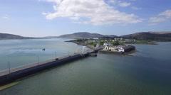 The Michael Davitt Bridge, Achill Island, Co Mayo Stock Footage