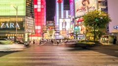 Osaka Shinsaibaishi - JAPAN Timelapse Stock Footage