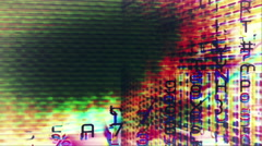 Streaming data and video flux - Digital Graffiti 030 HD, 4K Stock Video - stock footage