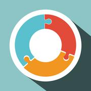 Puzzle icon design Stock Illustration