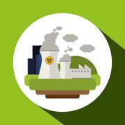 Save Energy icon design Stock Illustration
