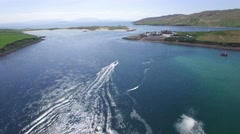 Boat, Achill Island, Ireland Stock Footage