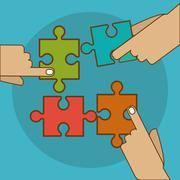 Puzzle icon design, Vector illustration Stock Illustration
