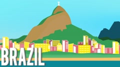 Brazil Map Graphic Stock Footage