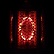 Nixie tube indicator of the numbers retro style. Digit 0 Stock Photos