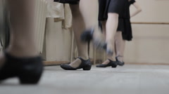 Ballerina at dancing lessons Stock Footage