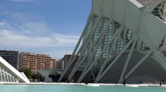 Valencia, City of Arts and Sciences, spectacular perspective, Spain Stock Footage