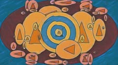 1960s Pop Art Psychedelic Flow Stock Footage
