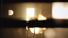 Super 8 mm parts film box flicker Stock Footage