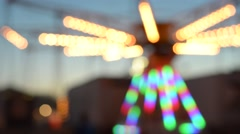 Blurry County Fair Ride - Background Stock Footage
