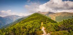 Hiking Trail in the Mountains Stock Photos