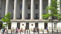 Washington - Department of treasury Stock Footage