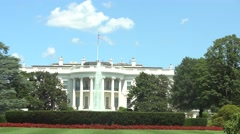 Washington - Lawn at the White House  Stock Footage