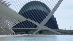 Valencia, City of Arts and Sciences, Agora and Science Museum, Spain Stock Footage