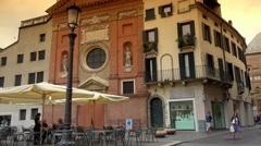 ULTRA HD 4k,The Piazza dei Signori and Church San Clemente in Padua, Stock Footage
