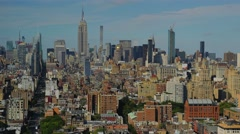 Daytime to Dusk Timelapse Over Midtown Manhattan - stock footage